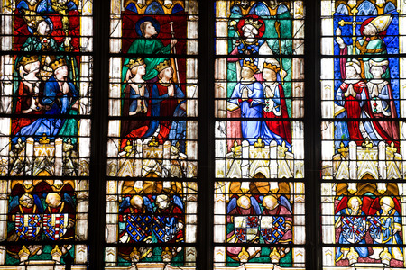 chartres: Stained glasses from Chartres Cathedral, France
