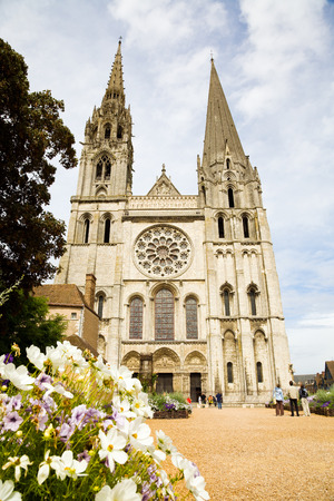 chartres: Chartres Cathedral facade, France