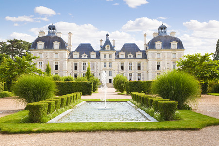 french culture: Cheverny Chateau view from apprentices garden, France
