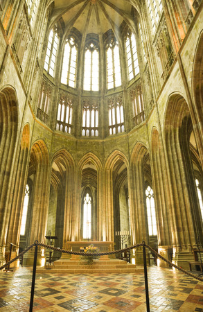 michel: Inside the Abbey of Mont St. Michel, France Editorial