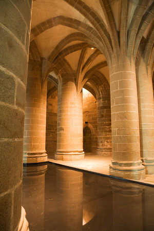 michel: Columns from Mont St. Michel, France Editorial
