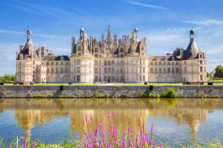 Chambord Chateau panorámica, Francia Foto de archivo - 38299192