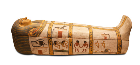 Egyptians sarcophagus isolated