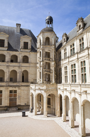 chateau: Chambord Chateau staircase, France