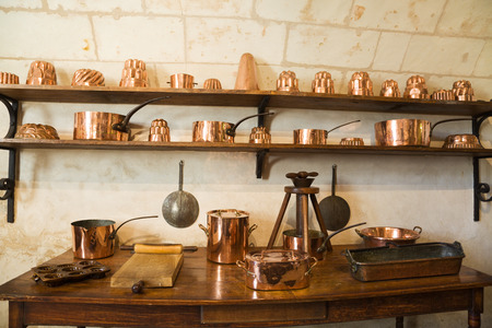 Old Kitchen from Chenonceau Chateau, France 写真素材