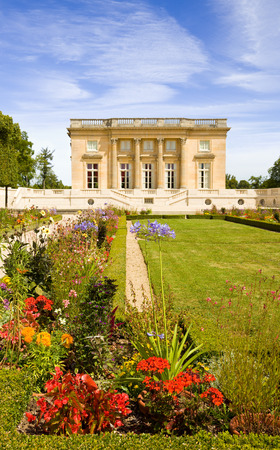 chateau: Le Petit Trianon and gardens in Versailles Chateau. France series