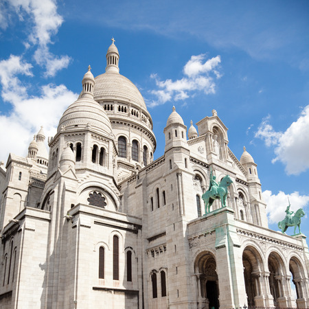 sacre: Sacre Coeur Cathedral at a summer day. Paris