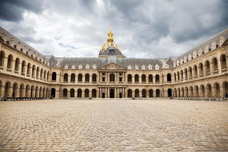 invalides: Great Court of Les Invalides complex, Paris. France Editorial