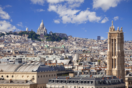 sain: Skyline of Paris from Notre Dame. Can see from St. Jacques tower to Montmartre with the Sacre Coeur on the top
