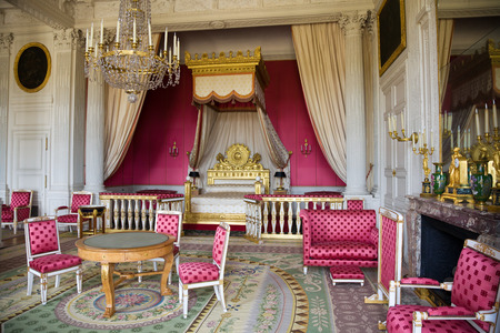 empress: Versailles, France - July 26, 2009: The Empress Apartment from le Grand Trianon of Versailles Chateau