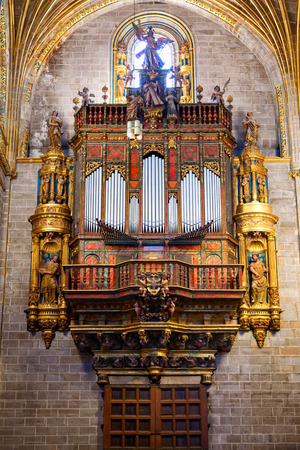 pipe organ: Pipe organ of Plasencia Cathedral. Plasencia is a walled market city in the province of Caceres, Spain