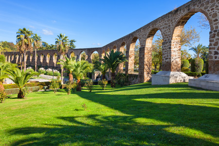 patrimony: Aqueduct of San Anton in Plasencia, province of Caceres, Spain