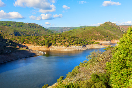 the tagus: Tagus river through Monfragüe National park in the province of Caceres, Spain