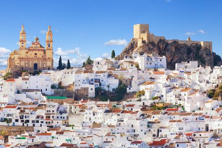 カディス、スペインの州の白い町ルートの門と考え、オルベラのパノラマ