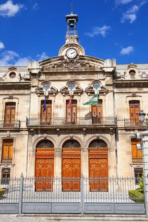 council: Jaen Provincial Council (Diputación Provincial de Jaen). Main facade in a sunny day. Spain