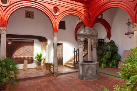 malaga: Courtyard of Mondragons Palace in Ronda, Malaga