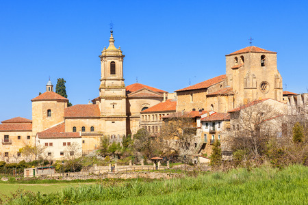 spanish homes: Monastery of Santo Domingo de Silos in the province of Burgos, Spain. St. Peter church on the right