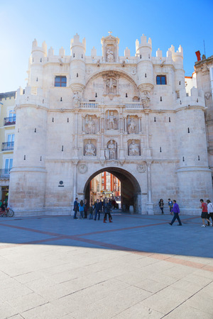 cid: Arch of Santa Maria in the city of Burgos, Spain. Work of the sixteenth century to replace an older one. It was built as triumphal monument to Carlos V