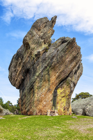 large rocks: Large rocks with strange shapes molded by nature in Castroviejo, province of Soria, Spain
