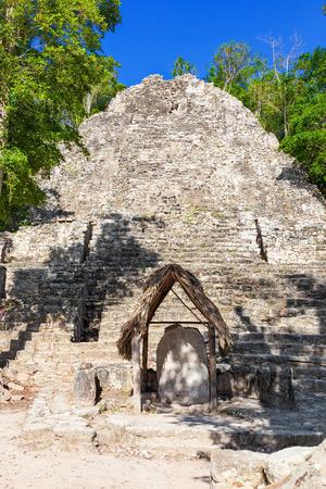 riviera maya: Pyramid structure known as La Iglesia in Cobá Group complex, Mexico