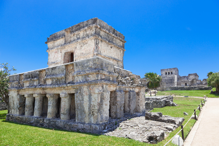 caribe: Tulum, archeological site in the Riviera Maya, Mexico. Site of a Pre-Columbian Maya walled city serving as a major port for Cob