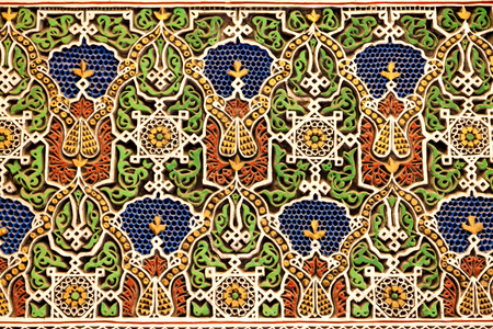 abstract shape: seamless decoration of traditional arabesque motifs