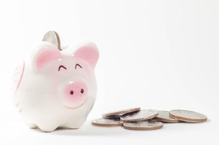 Piggy bank isolated on white background Stock Photo - 16611900
