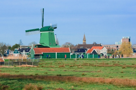 wind mill of Zaans schans, Netherland photo
