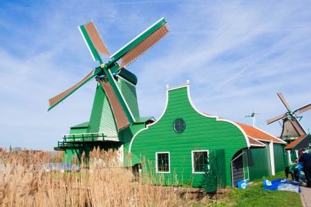 wind mill of Zaans schans, Netherland photo