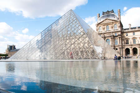 louvre pyramid: Louvre Pyramid Editorial
