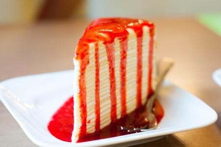 crepe cake at Secret garden Bangkok photo