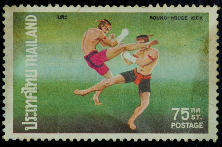 Thai boxing, Printed in Thailand Show Martial arts of Thailand