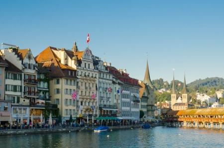 restuarant: Reuss riverside,   restuarant, Lucerne