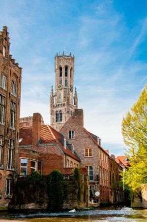 serenety: Bruges, medieval city in Belgium Editorial