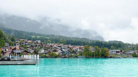 eiger: View of Brienz Lake, Interlaken region in Switzerland