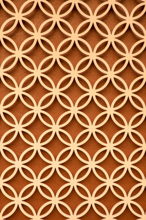 perforated: wood perforated  with Brown color background
