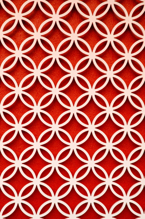perforated: wood perforated  with Bright Red color background
