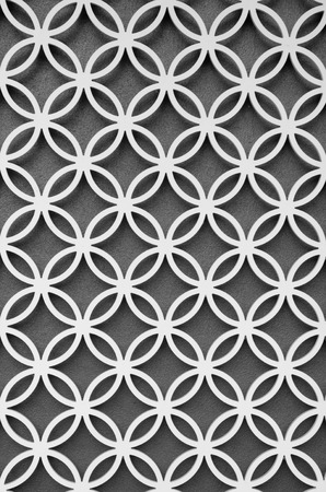 panel: wood perforated  with  Grey color background