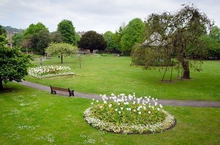 Parade Gardens Public Park In Heart Of  Bath, England Stock Photo