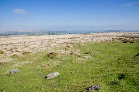 Dartmoor National Park, Area of Moorland In Southern Devon, England, In Spring Season 版權商用圖片
