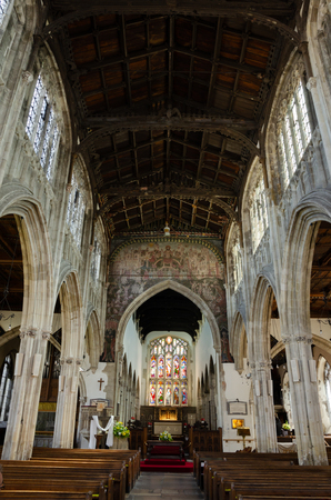 Interior of 13th Century St Thomas of Canterbury Parish Church, High Street, Salisbury, England