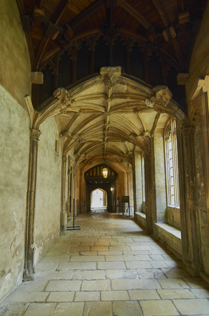 Historic Christ Church College cloister, Oxford, England Editorial