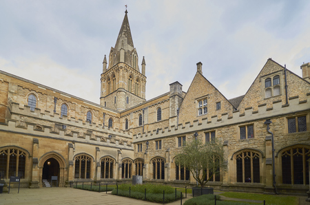 Beautiful Christ Church Cathedral, Romanesque, Gothic Style, Oxford, England Stock Photo