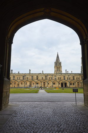 Christ Church College And Beautiful Green Lawn, Oxford, England