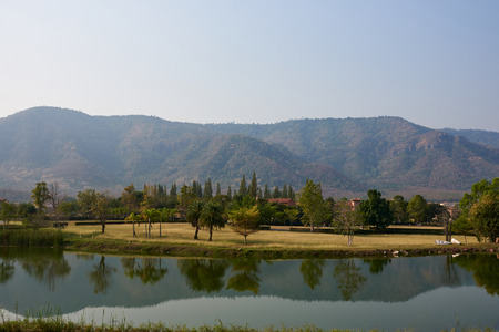 Beautiful Park With Lake And Moutain  In Pak Chong, Nakorn Ratchasima, Thailand
