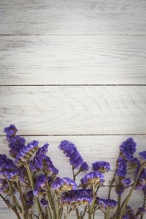 Wooden Fence Background And Blue Flowers. Nature Background.
