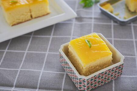 Piece Of Orange Butter Cake. Reklamní fotografie