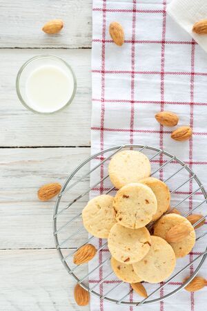 Home Made Almond Butter Cookies, Low Sugar Cookies For Healty Life