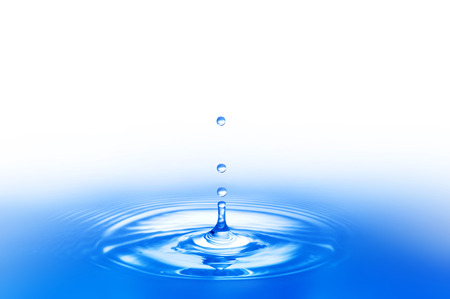 ripple: ripples and water droplets Stock Photo