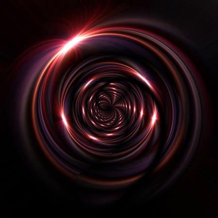 red swirl: vortex of light